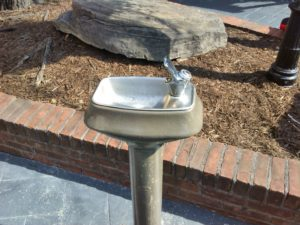 Interestingly, for all our germophobia, we are zen with that most communial of thirst quenching stations...the public drinking water fountain. Germans, WHY DON'T WE HAVE THESE? So much easier than schlepping around a water bottle!